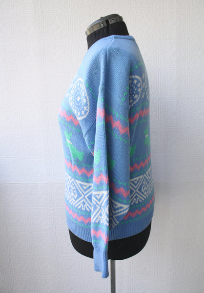 Pastel Candy Dog 80s/90s Sweater