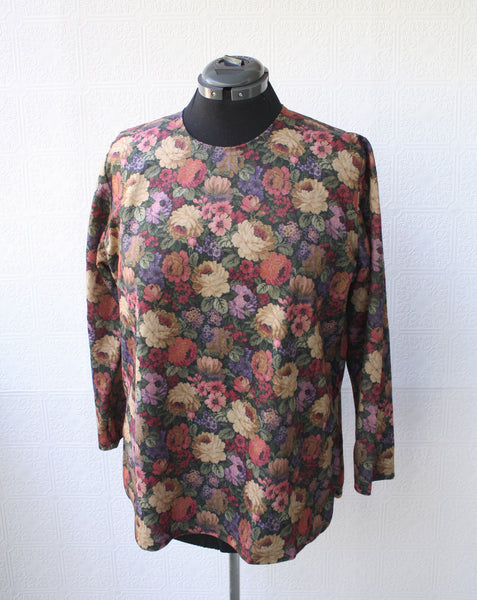 Renaissance Floral Long Sleeve Top