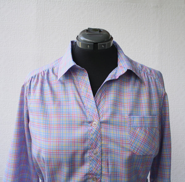 Rainbow Plaid Secretary Dress