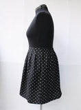 Black Polka Dot Short Skirt