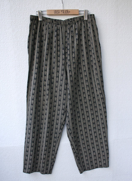 90s Floral Stripe High Waisted Wide Leg Pant