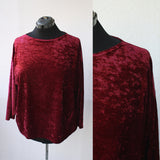 Oxblood Crushed Velvet Tunic