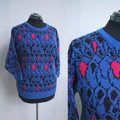 Neon Nintendo 80s Knit Sweater