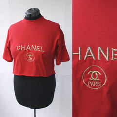 Chanel-ish Crop Top