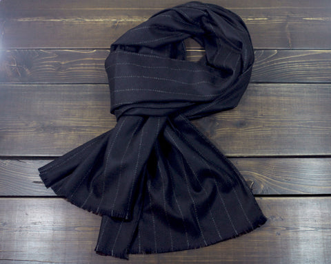 Scarf - Midnight Chalk Stripe