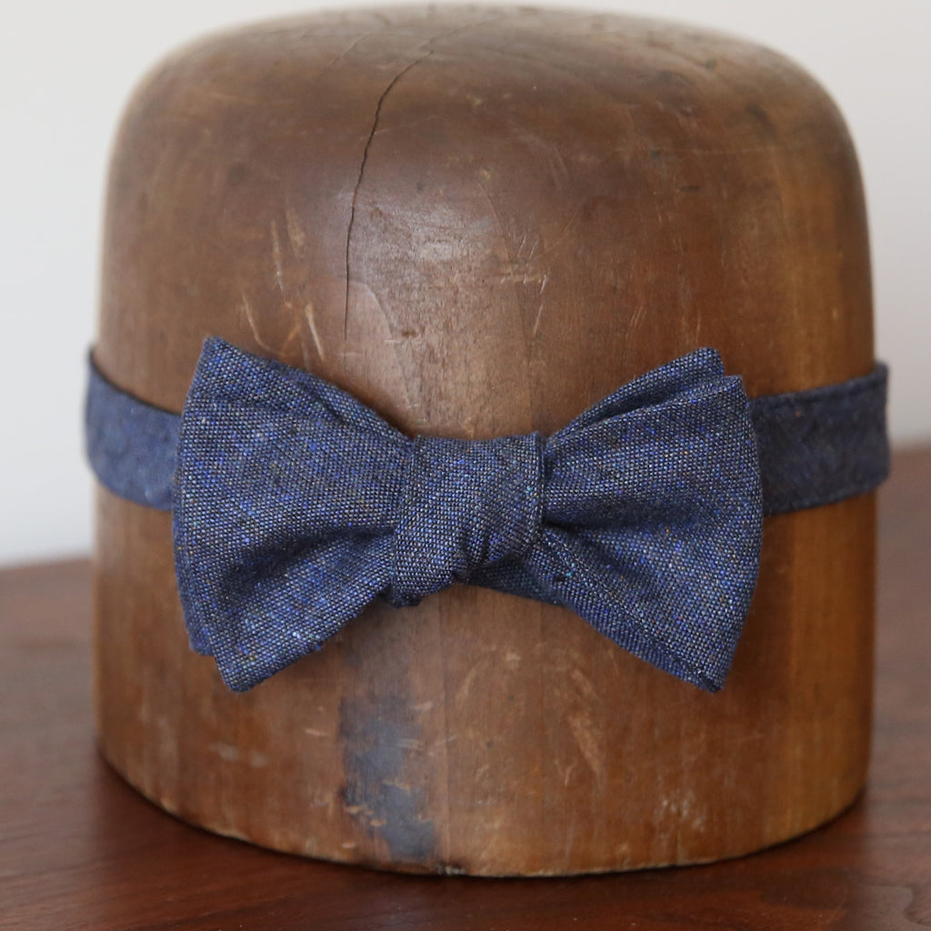 Bow Tie - Flecked Royal Blue