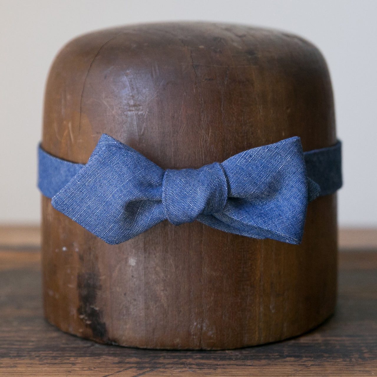 Bow Tie - Dusty Blue Chambray