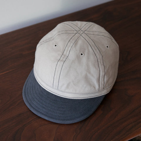 Field Cap - Bone Denim w Blue Peak
