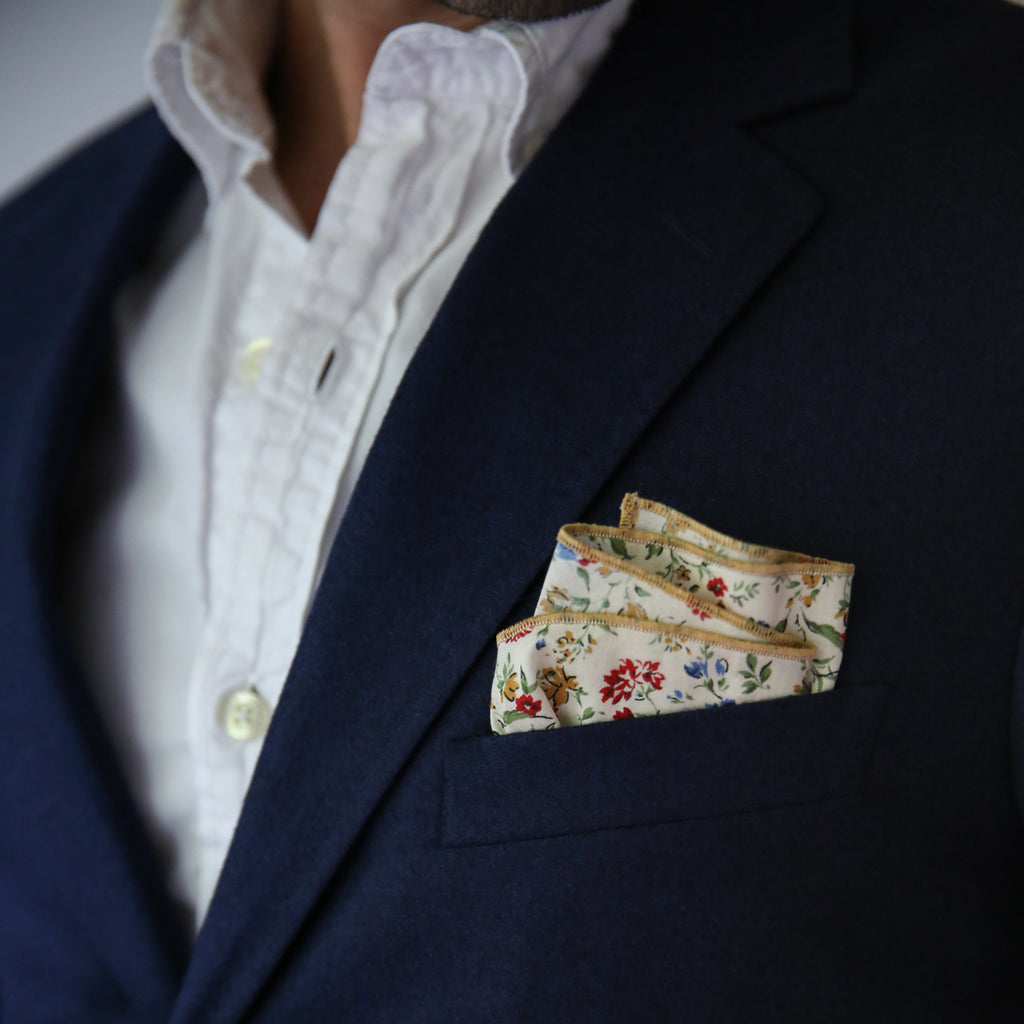 Pocket Square - Tiny Blooms