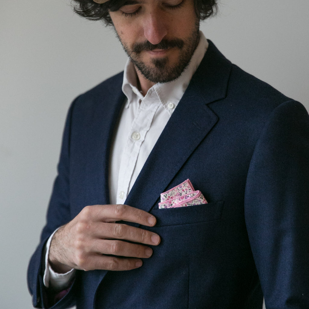 Pocket Square - Valentine Foral