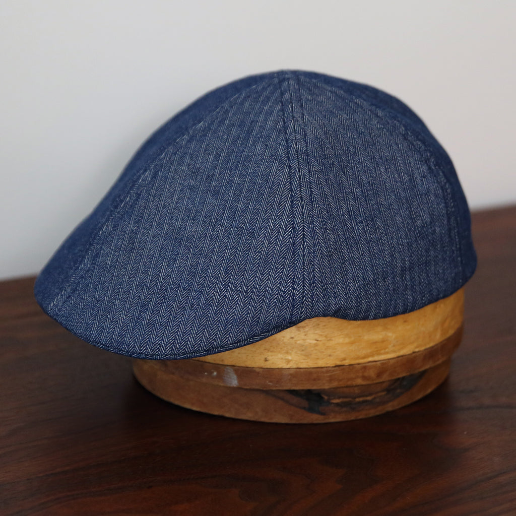 MTO Billy Cap - Indigo Herringbone
