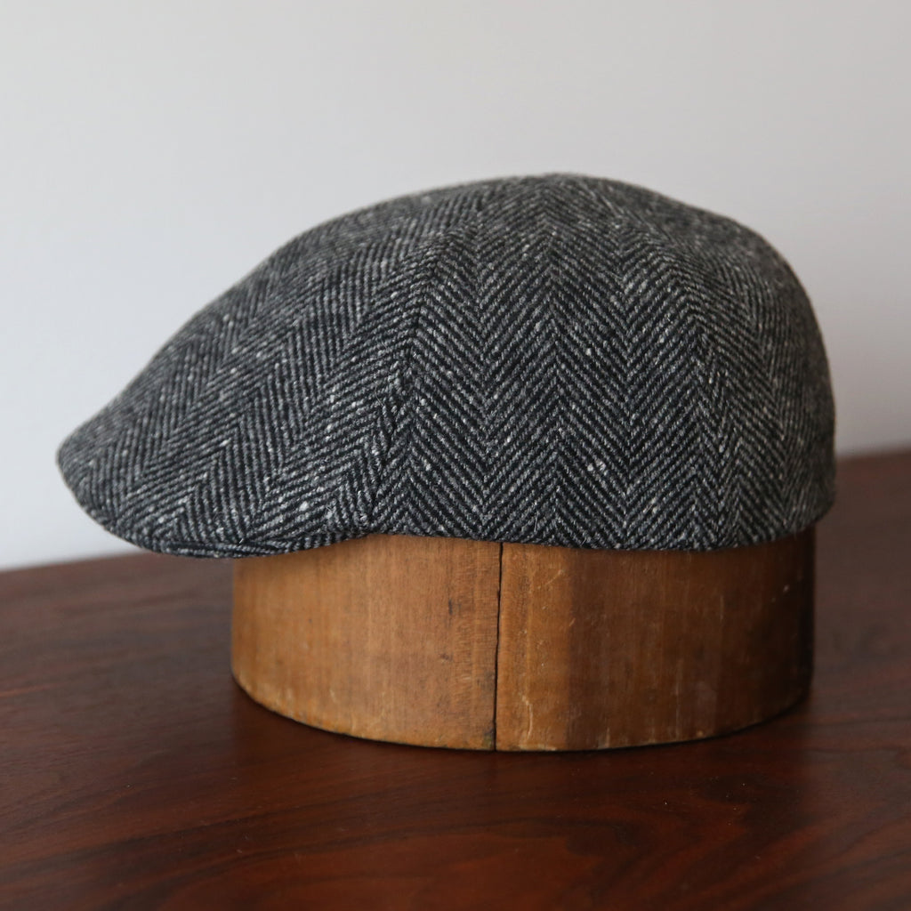 MTO Billy Cap - Black Herringbone