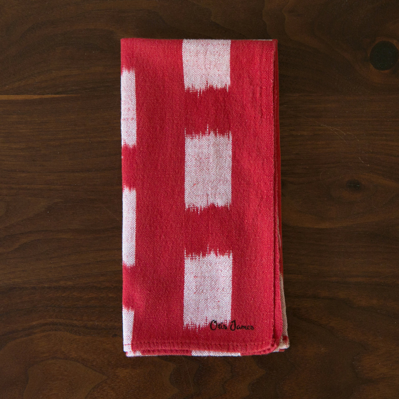 Small Batch - Red Ikat Hanky