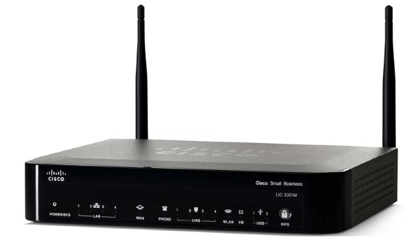 Cisco IP PBX Systems Cisco UC320W Unified Communications Wireless Router - UC320W-FXO-K9