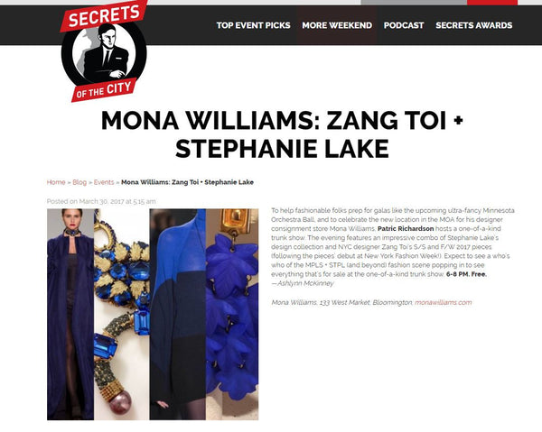 Mona Williams + Zang Toi + Stephanie Lake