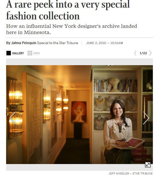 A Rare Peak into a Very Special Fashion Collection (Star Tribune)
