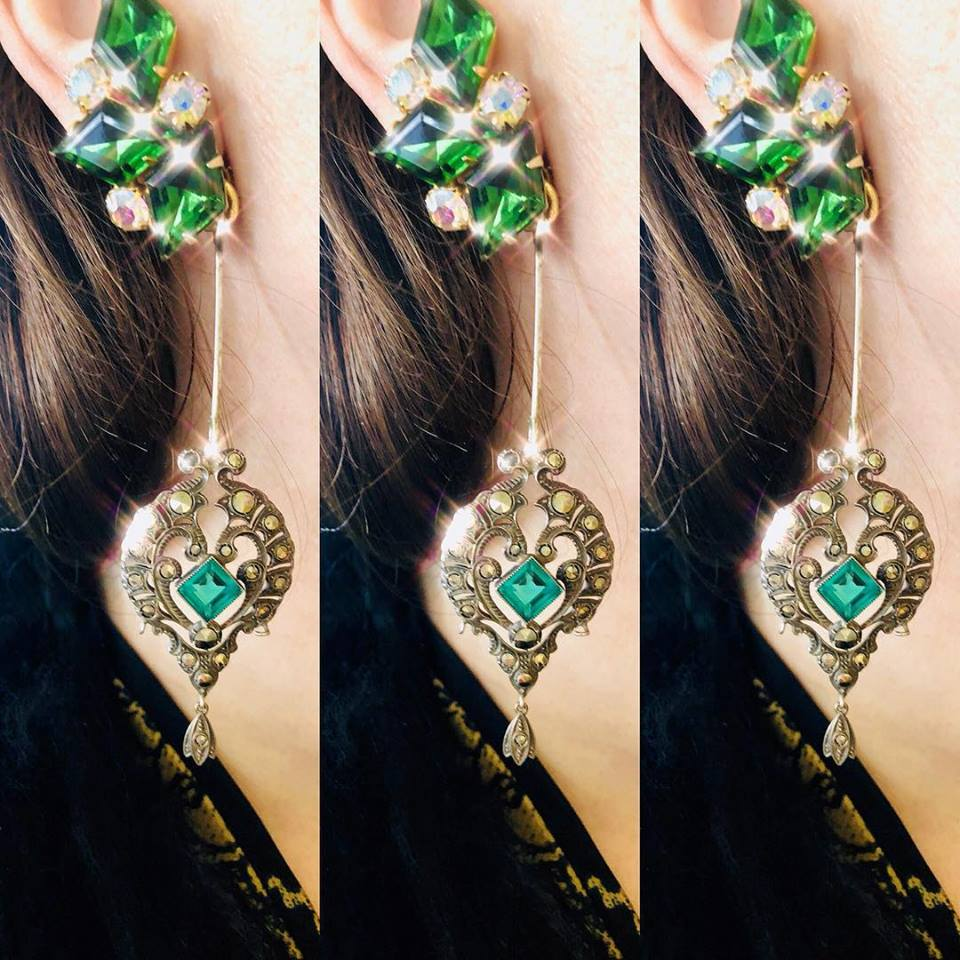 Emerald Clusters with Victorian Drops
