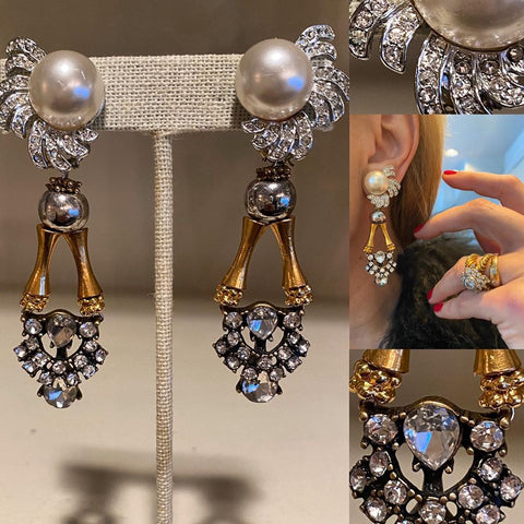 Studded Pearl Drops