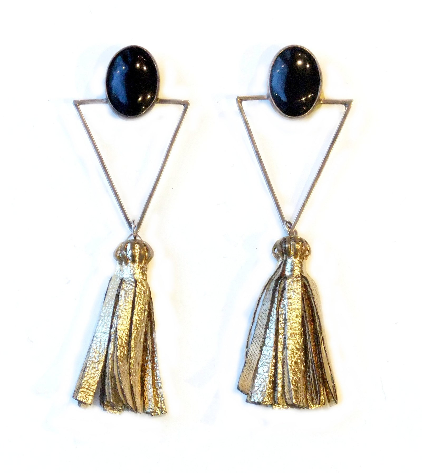 Art Deco Onyx and Sterling