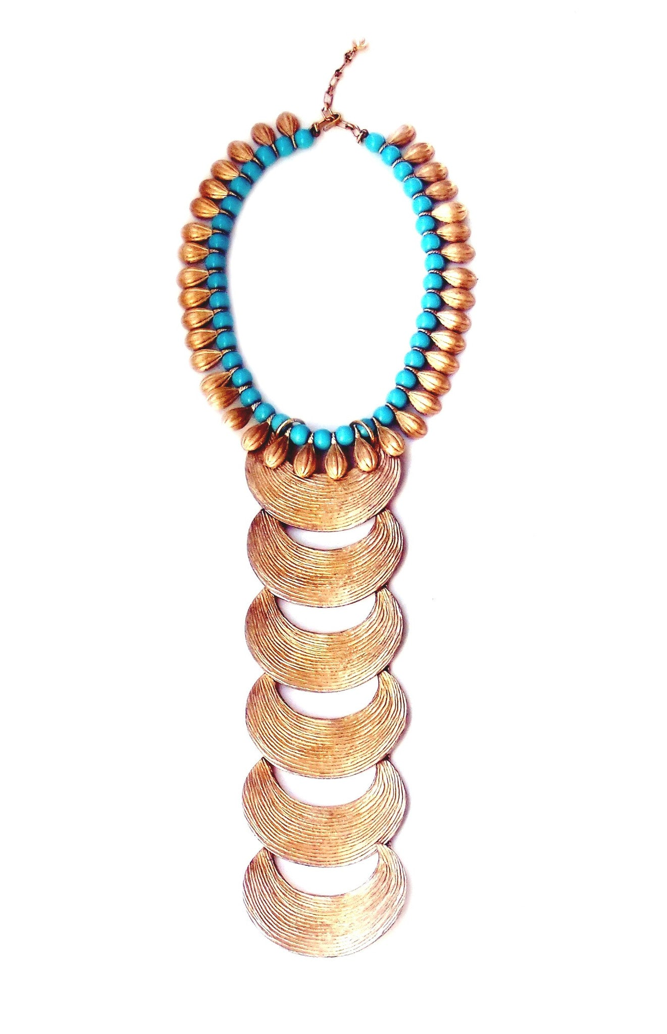 Gilded Tusk and Turquoise