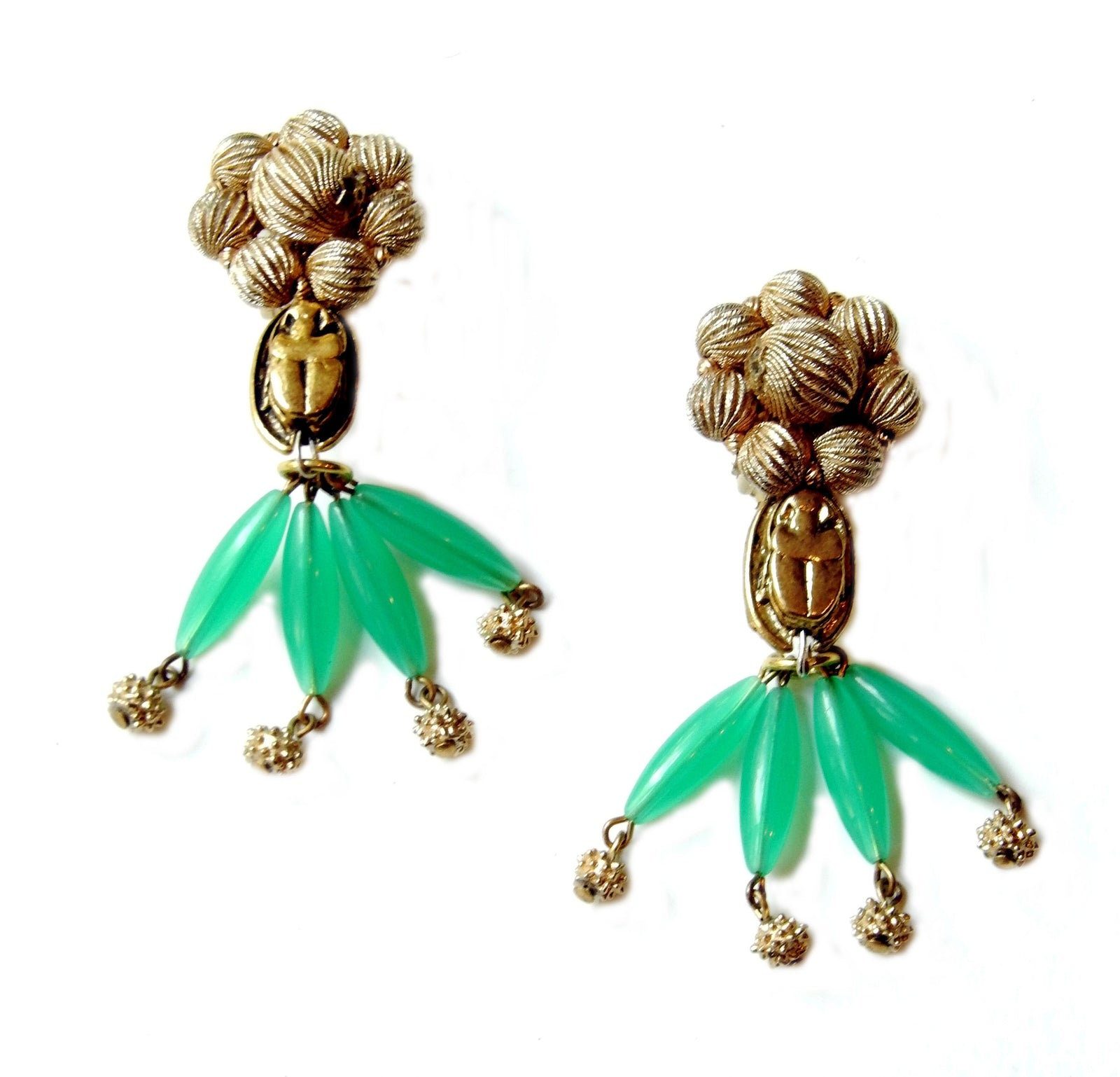 Antique Scarab Tassels