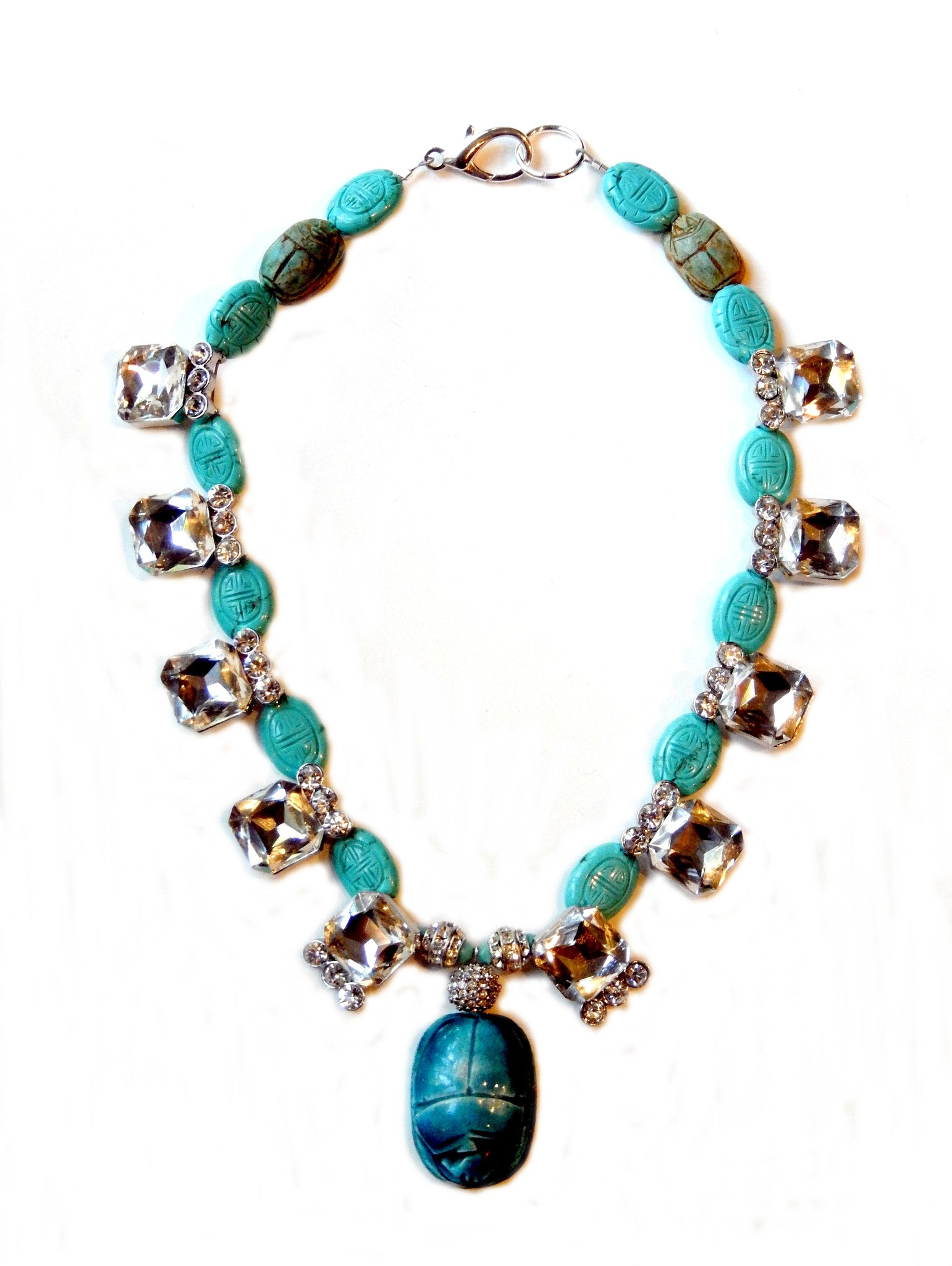 Turquoise Scarab