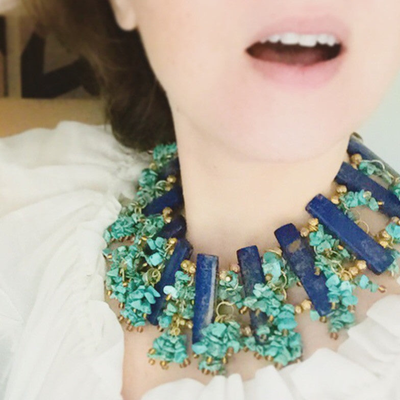 Turquoise and Lapis Collar