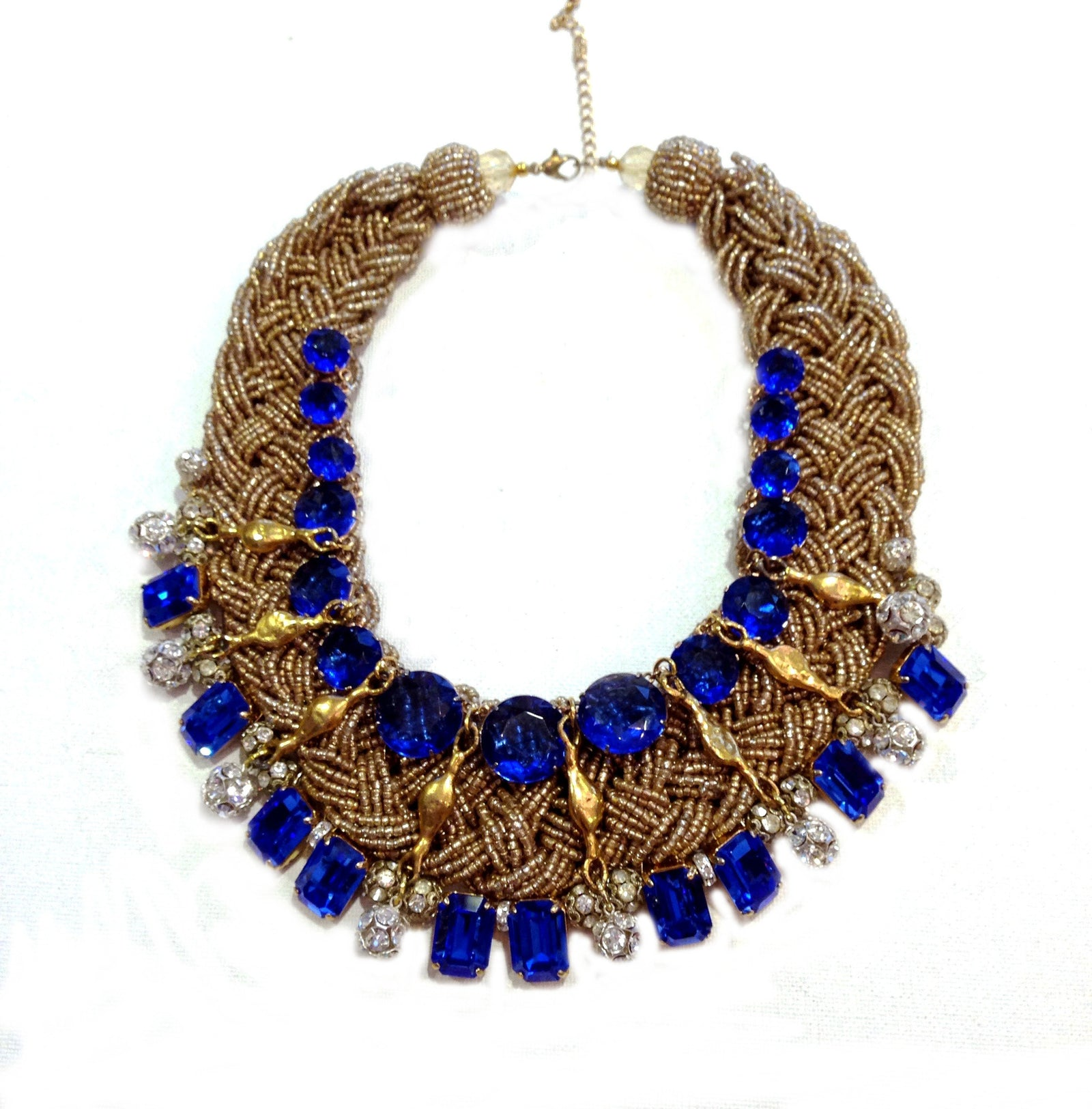 Cobalt Braided Bib