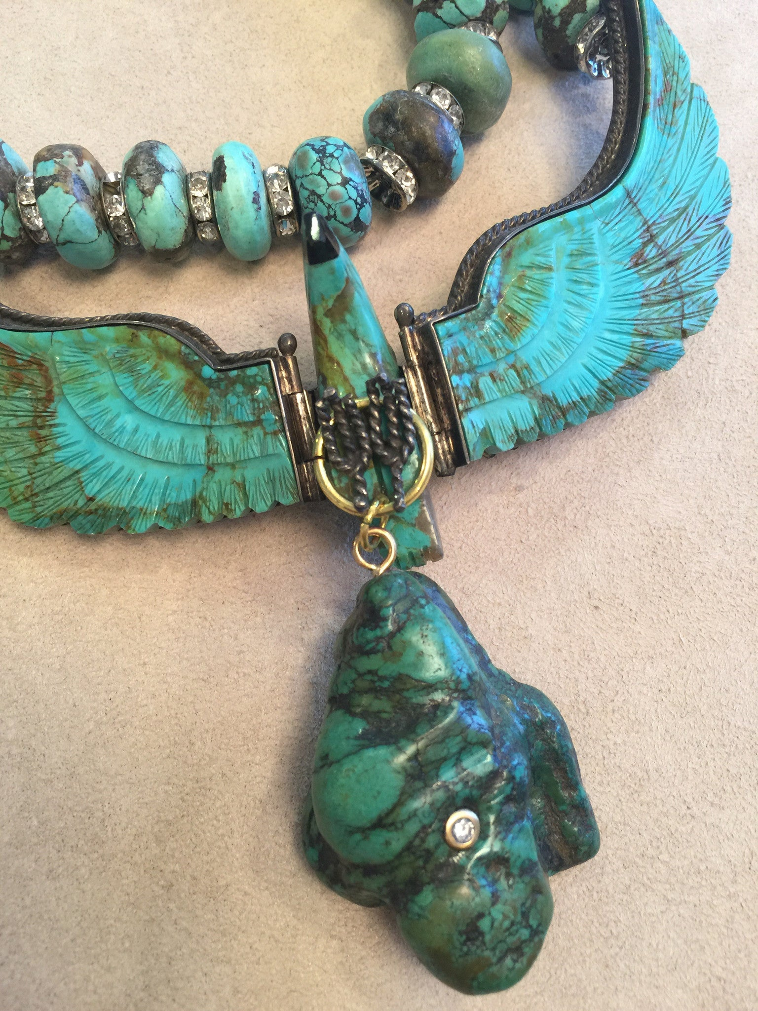 Turquoise and Diamond Eagle