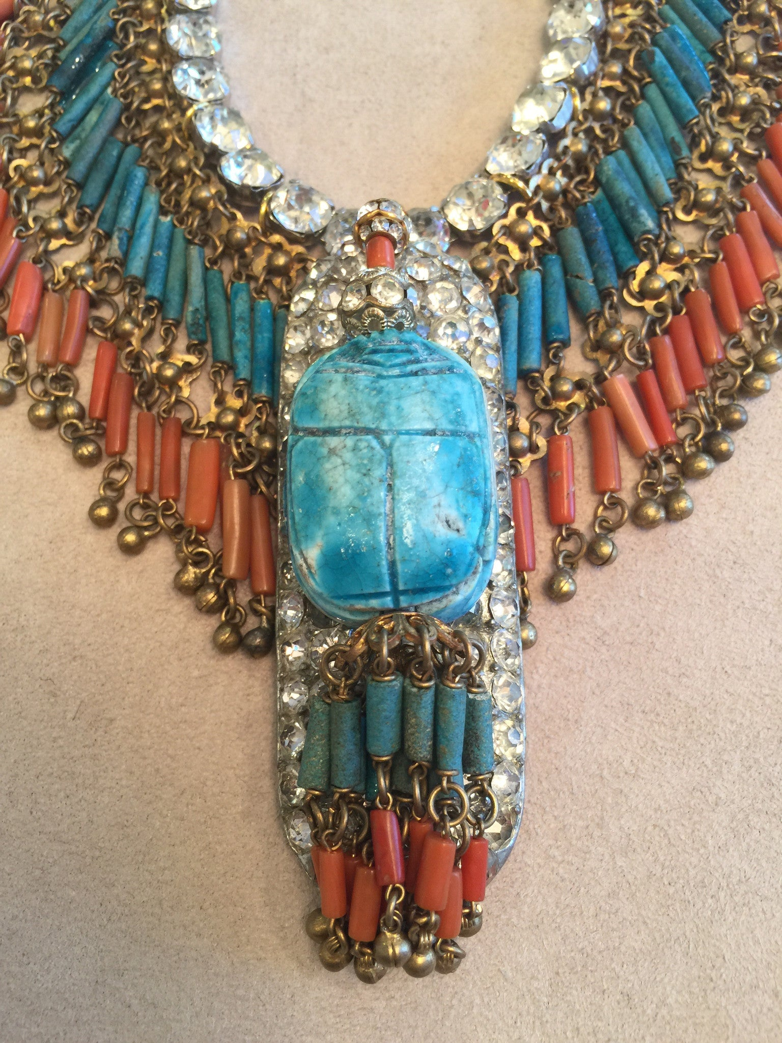 Turquoise and Coral Fringe