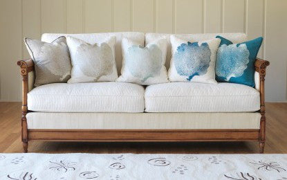Island Time Collection - Blueberry on White Linen<br/>(Shown Second from Right)