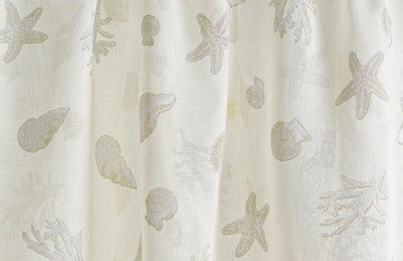 Nantucket Breeze Windswept Linen with Khaki Shells<br/>(Price per Yard)