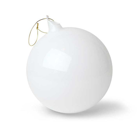 Bubblegum Glass Ball Ornament: Snow