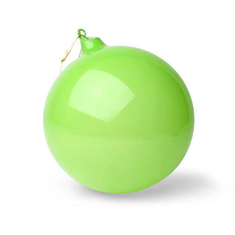 Bubblegum Glass Ball Ornament: Fern