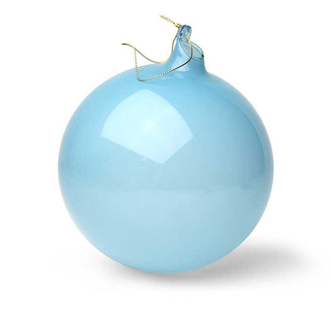 Bubblegum Glass Ball Ornament: Aqua