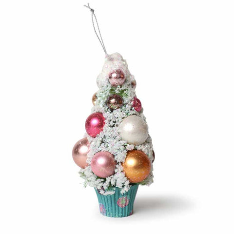 Frosted Gumball Blue Cupcake Tree Ornament
