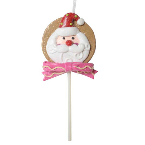 Lollipop Ole' St. Nick Gingerbread Ornament