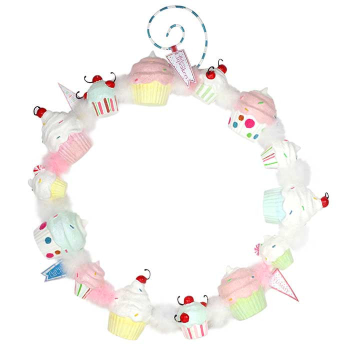 Sugary Sweet Cupcake Wreath