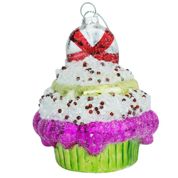 Super Sweet Cupcake Ornament - Green