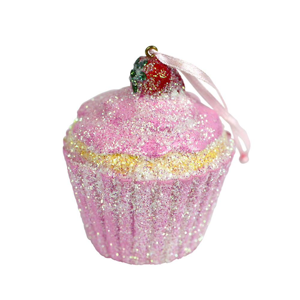 NEW Strawberry Buttercream Frosted Cupcake Ornament