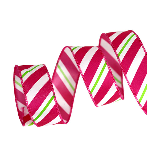 NEW Peppermint Striped Ribbon