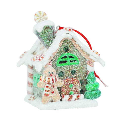 Gingerbread House Peppermint Ornament