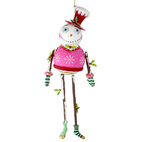 NEW Holly Jolly Snowman Ornament - Glitterville