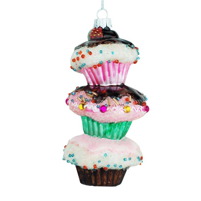 Cupcakes Stacked So High Ornament