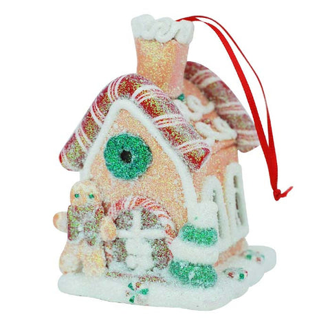 Gingerbread House Candy Stick Ornament