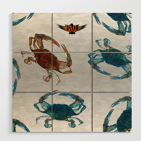 Chesapeake Crab Wood Wall Art