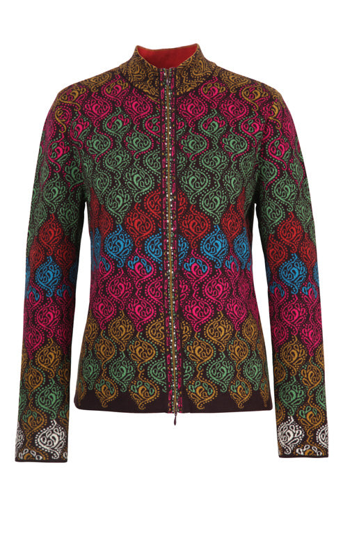 IVKO Jacket Geometric Pattern - Brown
