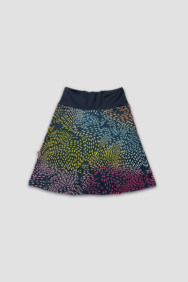 Art Skirt – Brushstrokes Navy