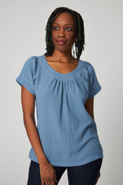 Easy Breezy Blouse - Blue