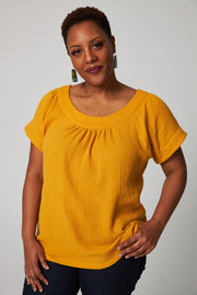Easy Breezy Blouse - Yellow